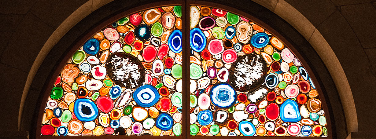 Stained glass by Sigmar Polke, Grossmünster Church Zürich. Photo copyright © Graeme Churchard