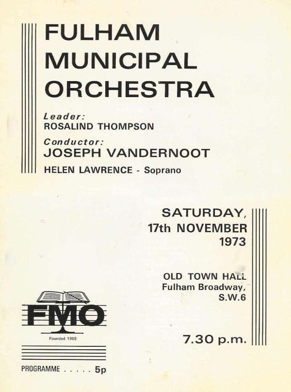1973 Concert flyer